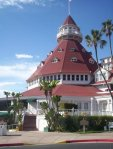 The main entrance to the famed Hotel Del Coronado